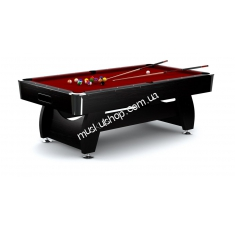 Бильярд Hop-Sport VIP Extra 8 ft black-red. Магазин Muskulshop